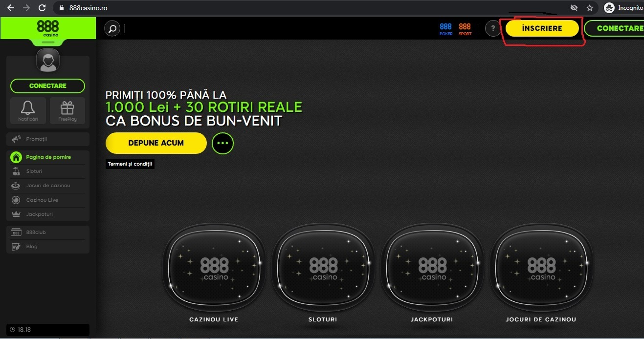 bonus cazino 888